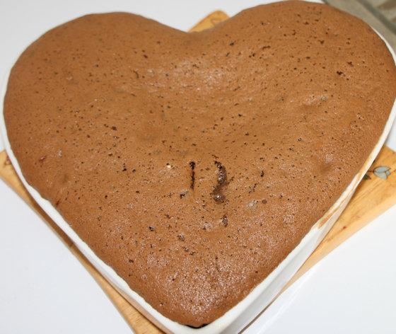 Moelleux au chocolat et aux pommes caramélisées
