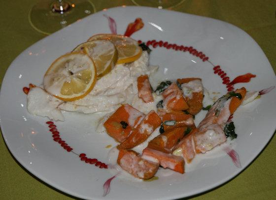 Dos de cabillaud façon créole avec gingembre et patate douce