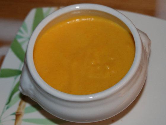 Velouté de carottes au curry et curcuma