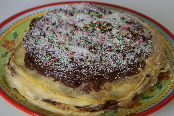 Gâteau de crêpes à la mousse de chocolat