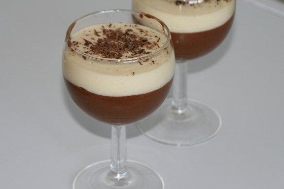 Duo de chocolat en verrine