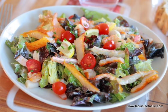 Salade de haddock aux champignons et au citron