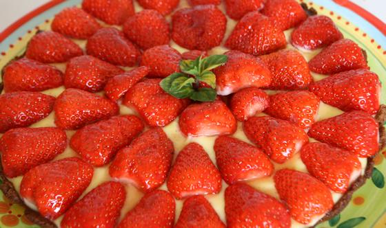 Tarte aux fraises 100 % maison