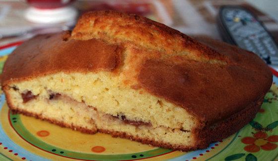 Gâteau au yaourt à la confiture de fraises