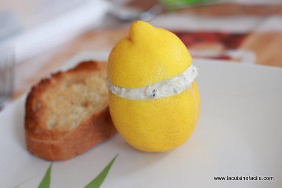Citrons farcis aux rillettes de maquereaux
