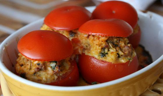 Tomates farcies à l'agneau