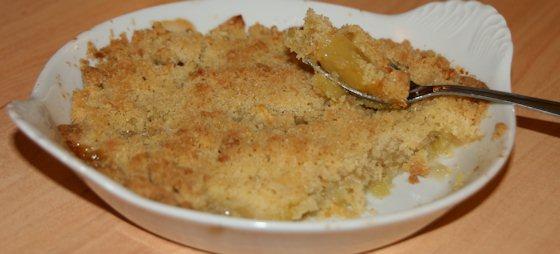 Crumble de pommes au beurre salé