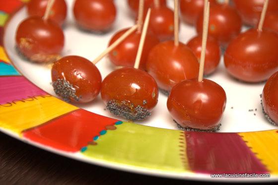 Tomate cerise façon pomme d'amour