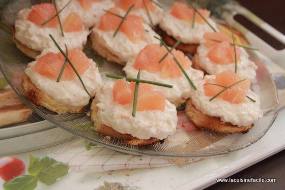 Cheesecake au crabe et au pamplemousse