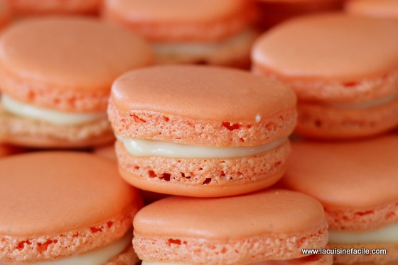 Macarons au chocolat blanc parfumés à l'orange