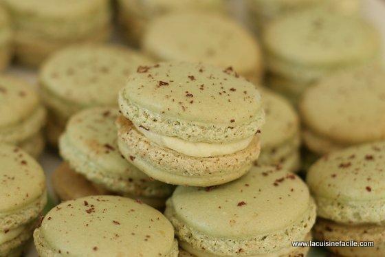 Macarons à la crème de pistache