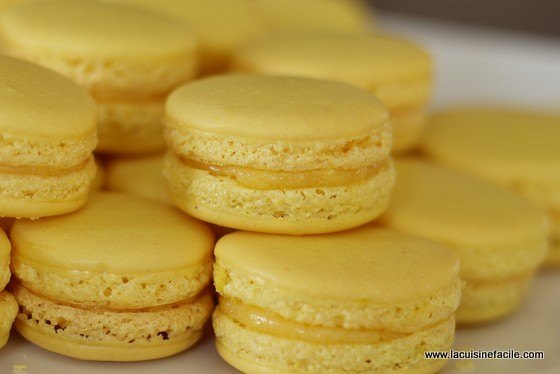 Macarons au citron - LaCuisineFacile.com