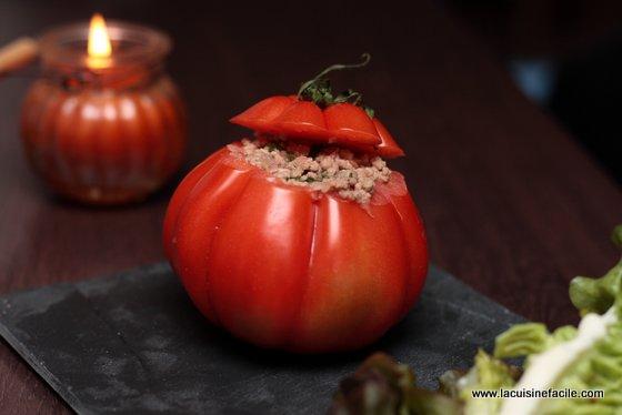 Tomate farcie au boeuf façon Dukan