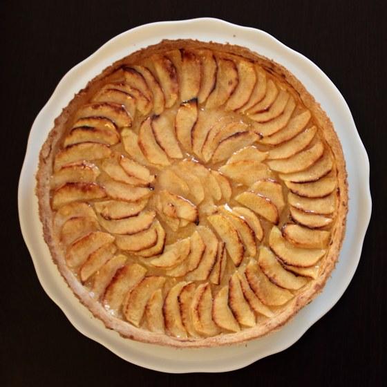 Tarte aux pommes et cannelle 100 maison - Tarte aux pommes compote maison ...