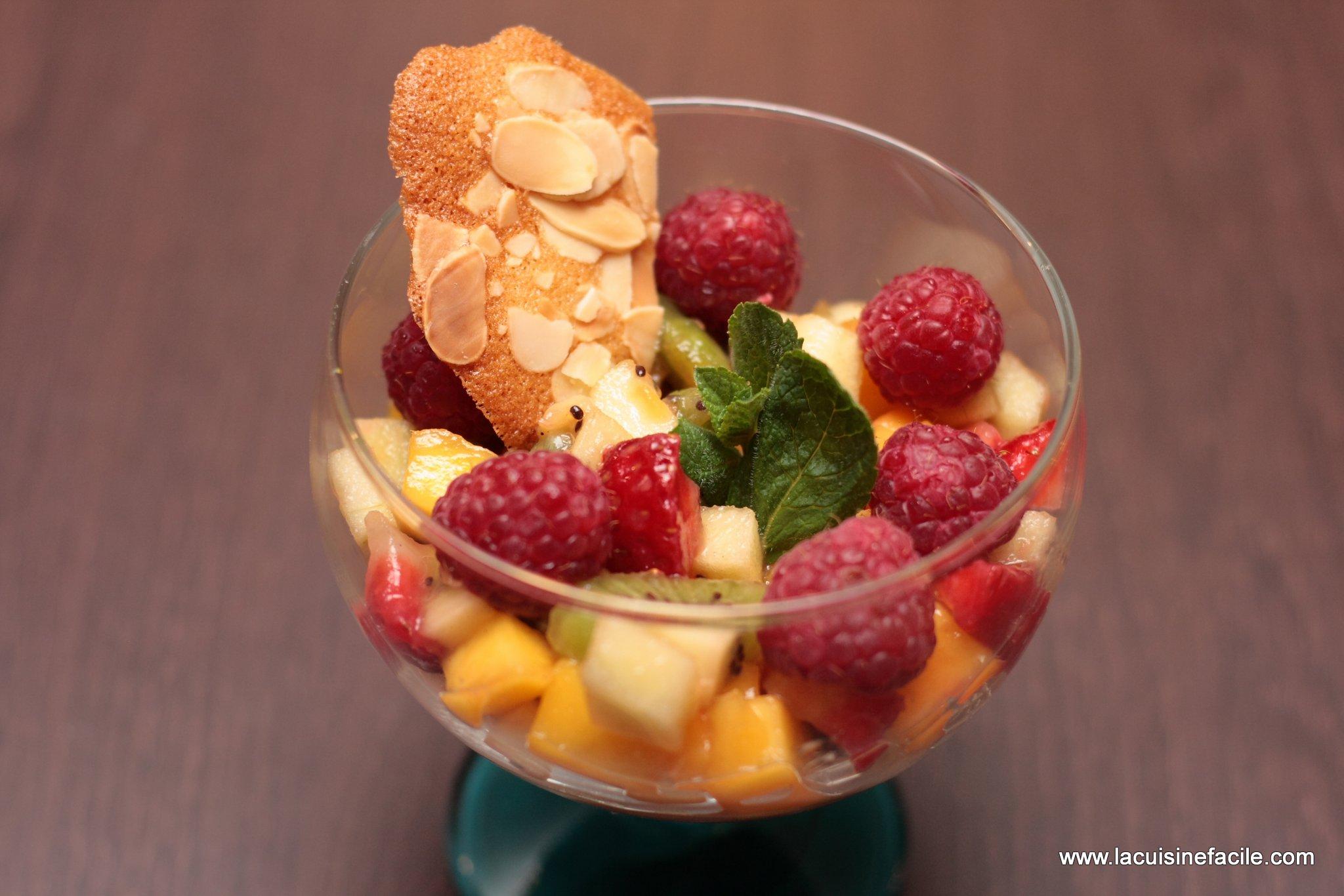 Coupe tutti frutti acidulée