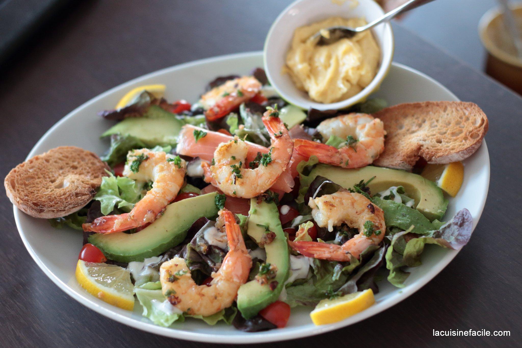 Salade océane à l'avocat