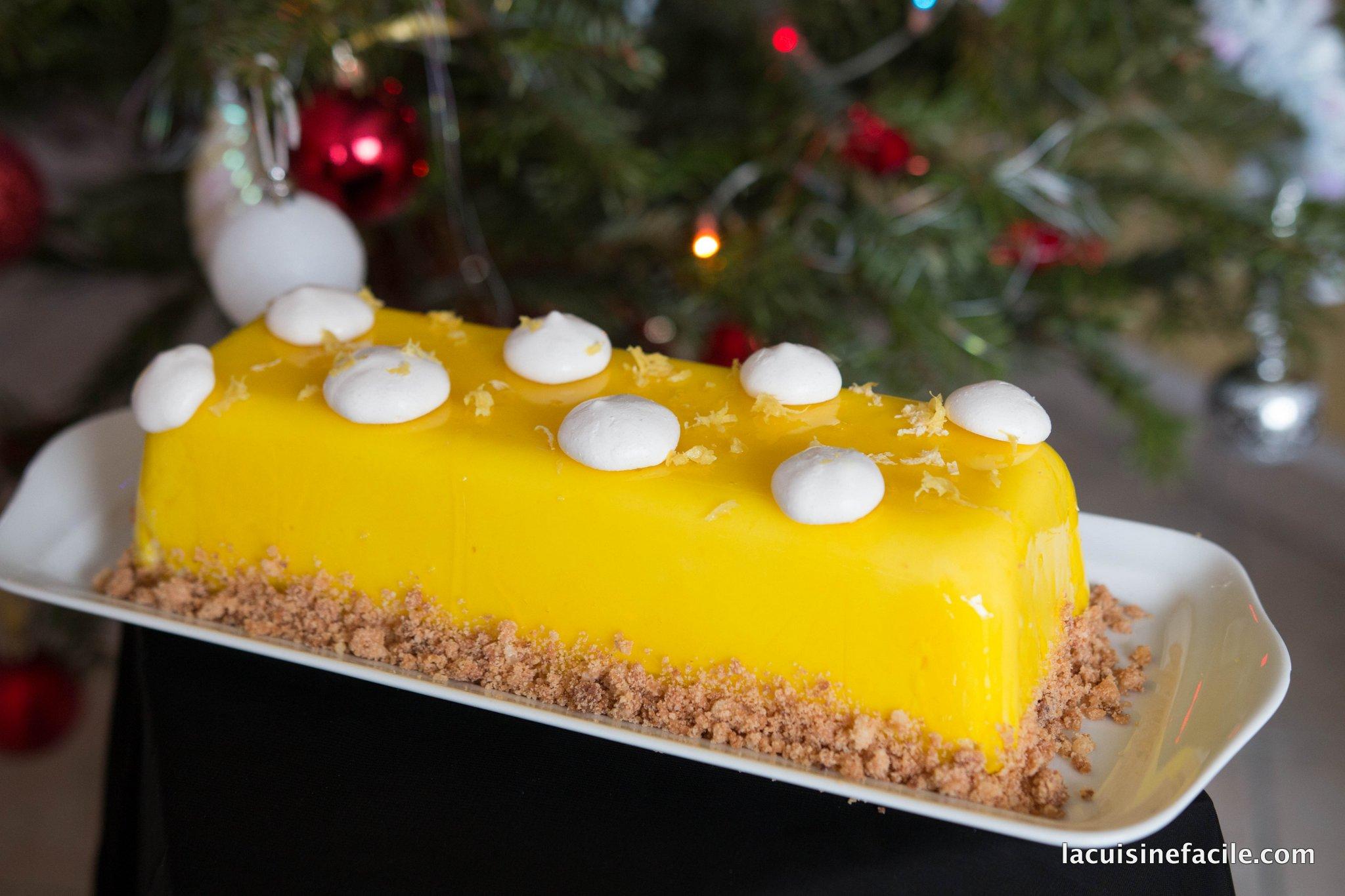 Bûche façon tarte au citron