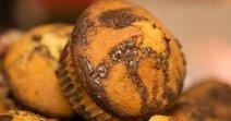 Muffin marbré au chocolat et à la vanille