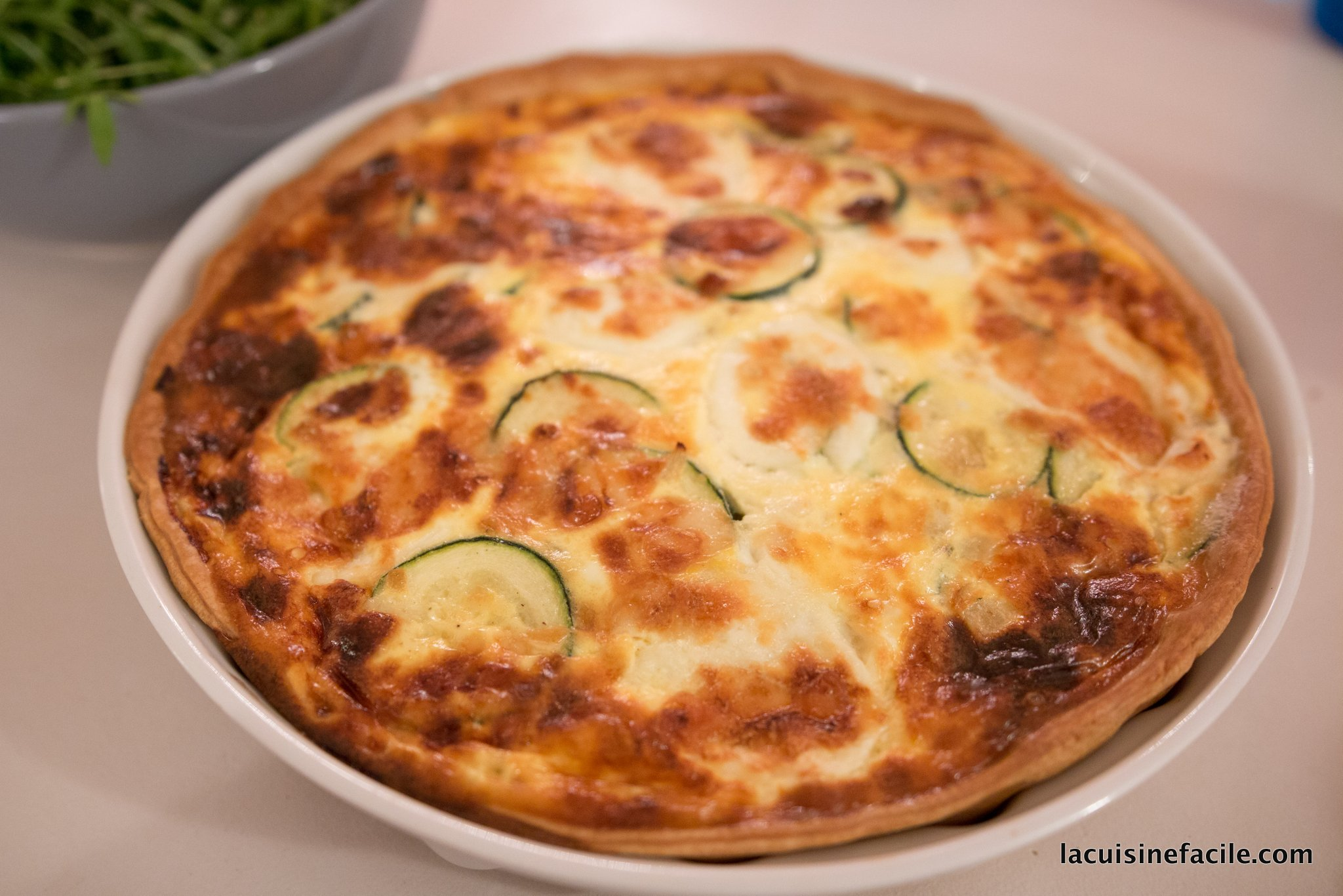 Quiche à la courgette, mozzarella et parmesan